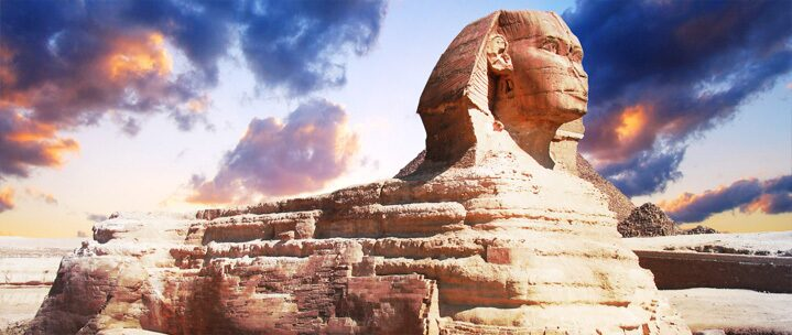 Profile of the Great Sphinx , Egypt
